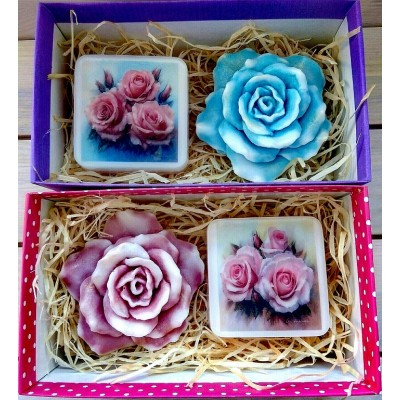 Набор мыла для женщин Розы